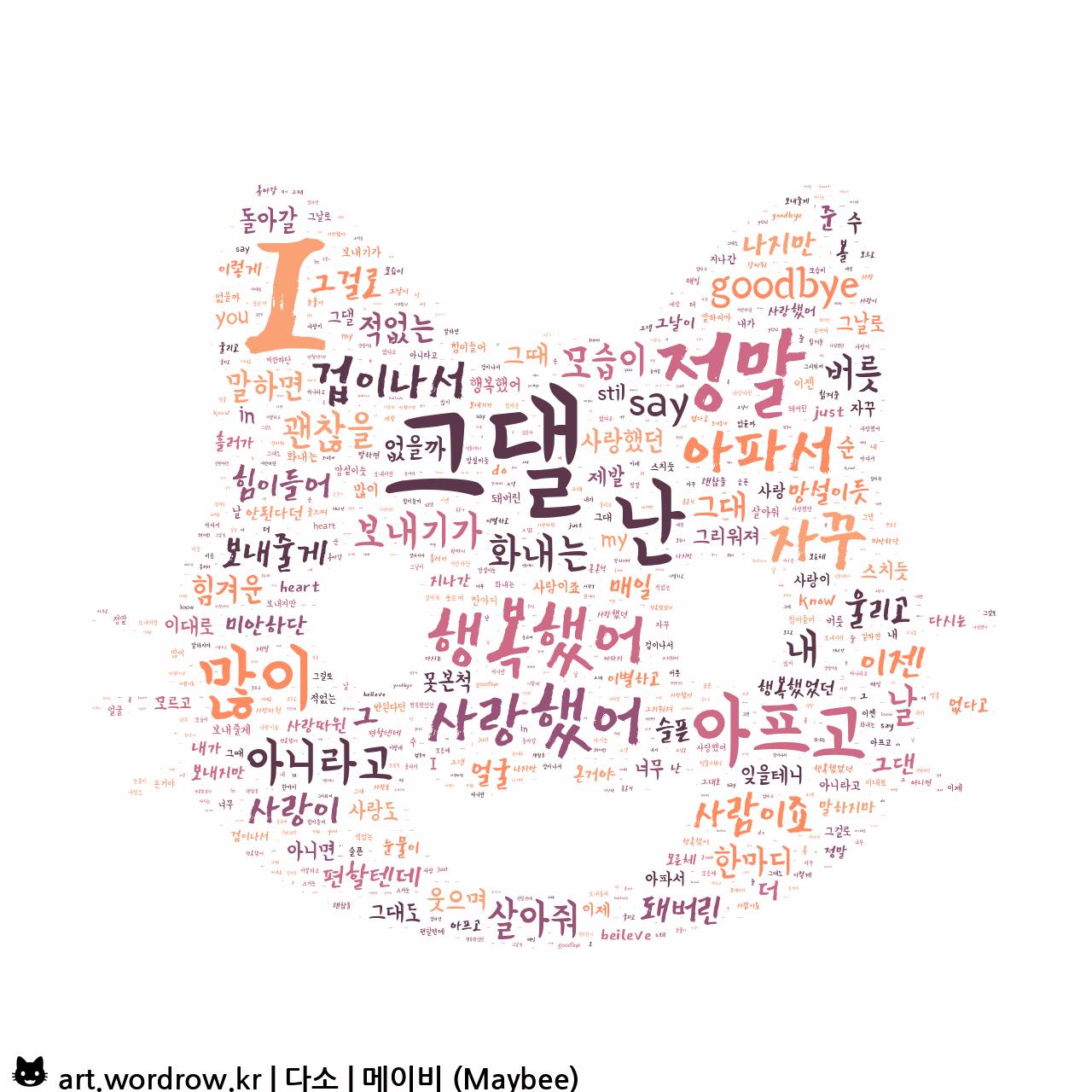 워드 아트: 다소 [메이비 (Maybee)]-36